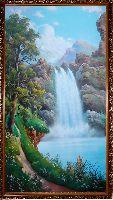Цена картины Крутой водопад