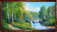 Купить картину Лесной Водопад