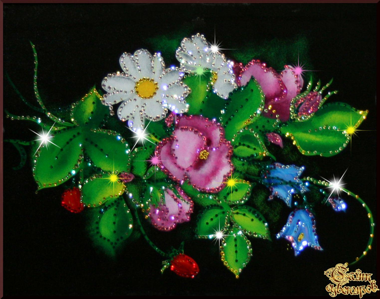 Анимационные фото с живыми цветами