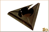 Пепельница Треугольник большой из обсидиана