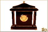 Часы Каминные из обсидиана