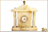 Часы Каминные большой из обсидиана