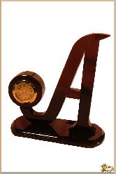 Часы Афина из обсидиана