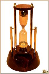 Часы Песочные Круглый из обсидиана