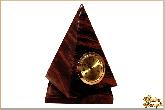 Часы Пирамида средняя  из обсидиана