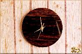 Часы Настенные Круглые из обсидиана