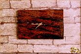 Часы Настенные Прямоугольные из обсидиана