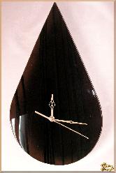 Часы Настенные Капля из обсидиана