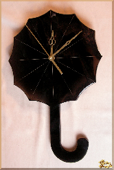 Часы Настенные Зонтик из обсидиана