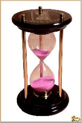 Часы Песочные Оригинал из обсидиана