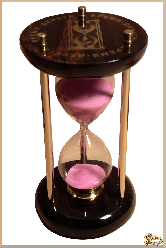 Часы Песочные Классический из обсидиана
