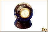 Часы Планета Земля из обсидиана