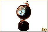 Часы Земной шар из обсидиана