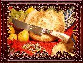 Узбекский нож (Пчак), Косуля большая (гарда гравировка)