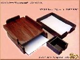 Лоток Двухэтажный, формата А4 из обсидиана