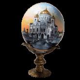Пасхальное яйцо страусиное Храм Христа Спасителя