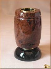 Карандашница Бочка из обсидиана