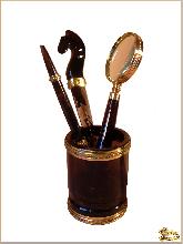 Карандашница Письменная из обсидиана