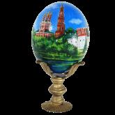 Пасхальное яйцо страусиное Новодевичий монастырь