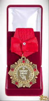 Орден подарочный Клевому рыбаку(красный бант)