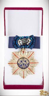 Большой Орден За мужество (синий бант, брошь)