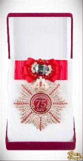 Большой Орден Юбилей 75 (красный бант, брошь)