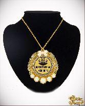 Медаль с Розочками на цепочке Божественная женщина элит