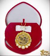 Медаль с Розочками и бантом на цепочке Самой красивой принцессе (футляр сердце)
