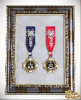 Орден в багете Золотой дедушка+Золотая бабушка