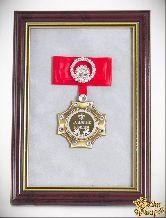 Орден в багете За взятие Юбилея! (красный бант, стразы)