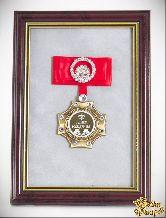 Орден в багете С Днем Рождения! (красный бант, стразы)