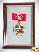 Орден в багете Клевому рыбаку (красный бант, стразы)