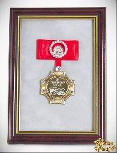 Орден в багете Любимому мужу за веру и верность! (красный бант, стразы)