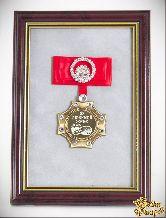 Орден в багете Любимой жене за веру и верность! (красный бант, стразы)