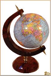 Глобус и мяч Каменный маленький из обсидиана