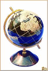 Глобус и мяч Планета земля экс большая из обсидиана
