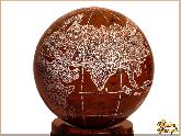 Глобус и мяч Земля маленькая из обсидиана