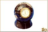 Глобус и мяч Часы глобус средний из обсидиана