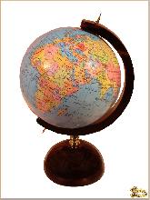 Глобус и мяч Офисный маленький из обсидиана