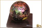 Глобус и мяч Миниатюра из обсидиана