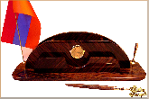 Письменный набор Арка маленький из обсидиана