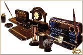 Письменный набор Люкс с комплектацией из обсидиана