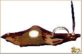 Письменный набор Скала из обсидиана