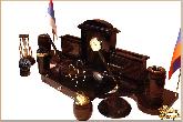 Письменный набор Королевский с комплектацией из обсидиана
