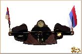 Письменный набор Полулюкс из обсидиана