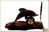 Письменный набор Дельфин из обсидиана