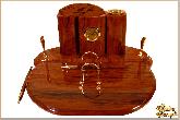Письменный набор Овальный из обсидиана