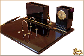 Письменный набор Банкир из обсидиана