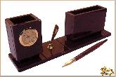 Мини письменный набор Администратор из обсидиана
