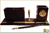Мини письменный набор Банкир из обсидиана